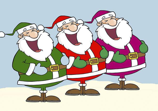 Tutti i colori di Babbo Natale