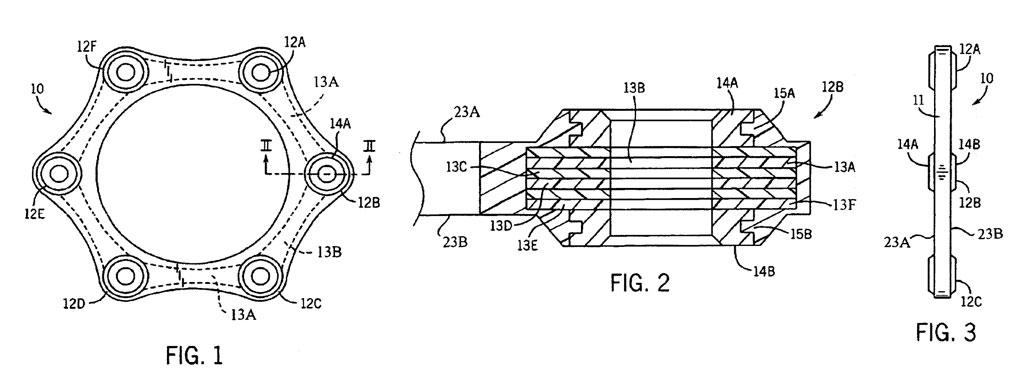 Elemento flessibile, brevetto US006905416B2