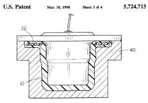 Flangia in composito, brevetto US005724715A