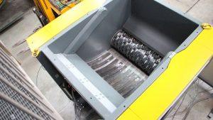 Camera di taglio del trituratore ad albero singolo QR 1400